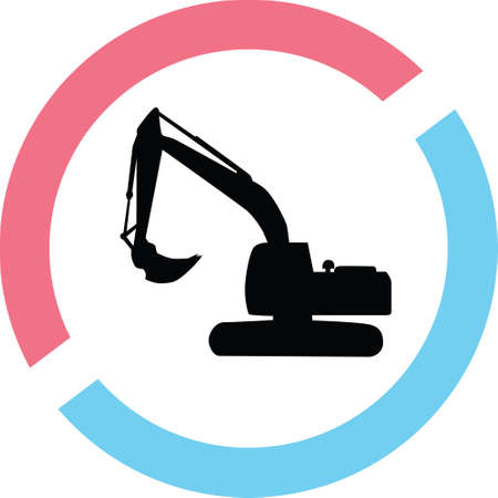 A loader in a circle on a silhouette presentation Illustration