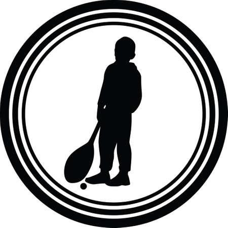 kid as tenis player