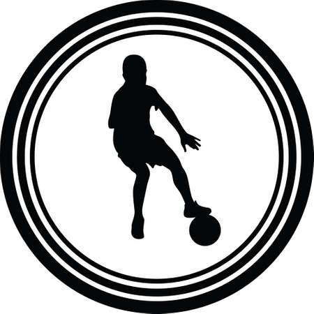 kid play soccer Иллюстрация