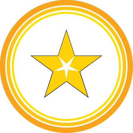 gold start favourite icon Illusztráció