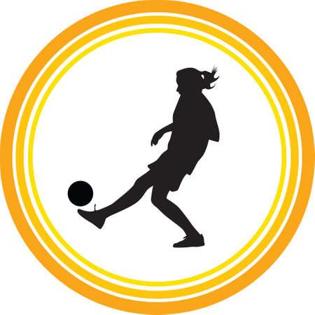 woman play soccer