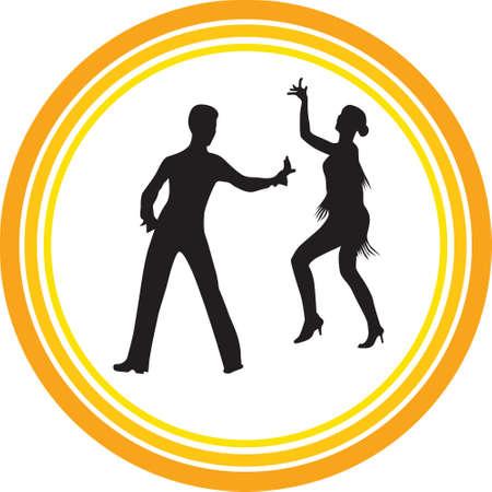 vector de silueta de gente de baile