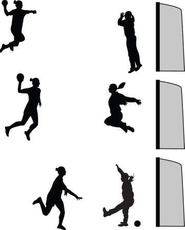 handball woman Illustration