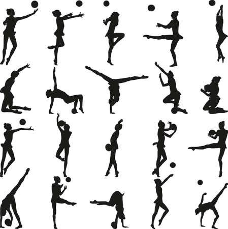 rhythmische Gymnastik Vektorgrafik