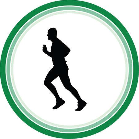 runner silhouette. run vector