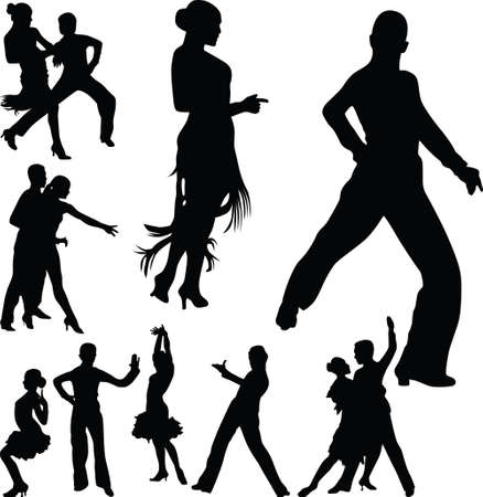 group of dancers as a couple Illustration