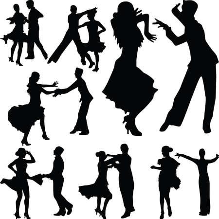 grupo de personas de baile en pareja