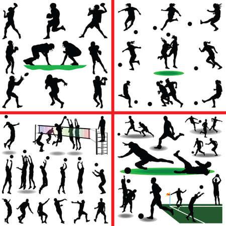 football, soccer, volleyball, women soccer
