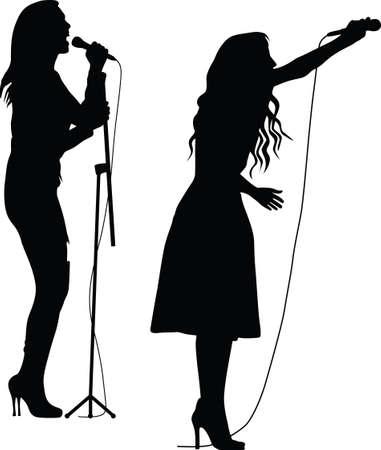 singer woman silhouette