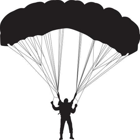 parachutist silhouette vector
