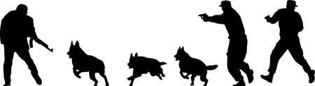terrorist silhouette vector Vecteurs