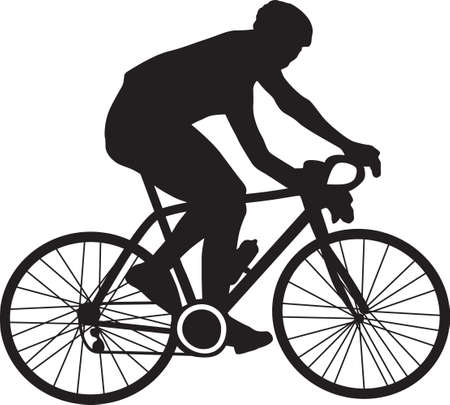 bicyclist Vektorové ilustrace
