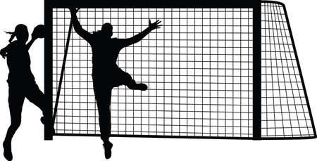 handball woman player Ilustração
