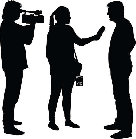 interview with star, jurnalist and cameraman Illustration