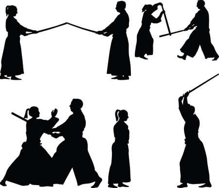 aikido martial art Ilustração
