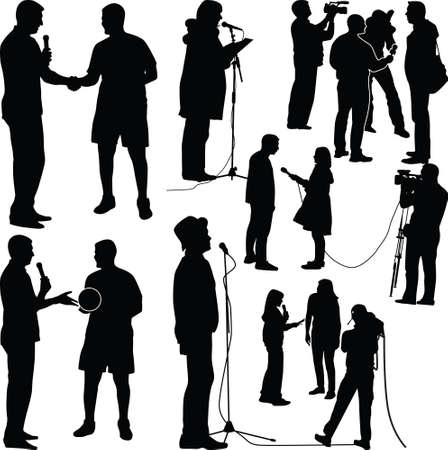 interview with star, moderator, cameraman and photographer Illustration