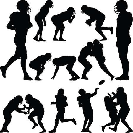 american football player 矢量图像