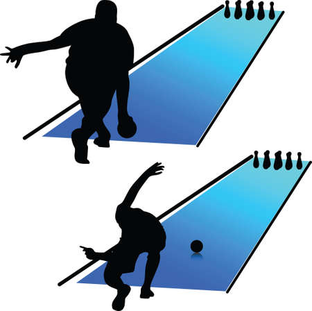 bowling 矢量图像