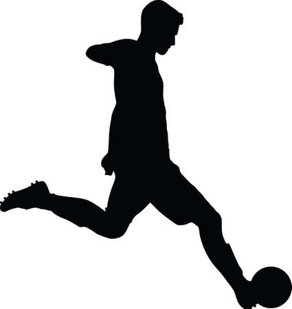soccer player. football player silhouette vector