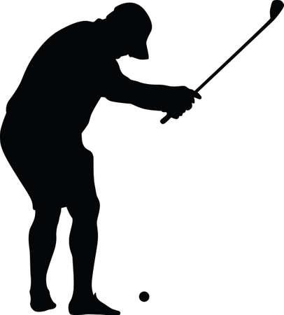golfer amateur silhouette vector 矢量图像