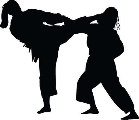 woman practice judo martial art