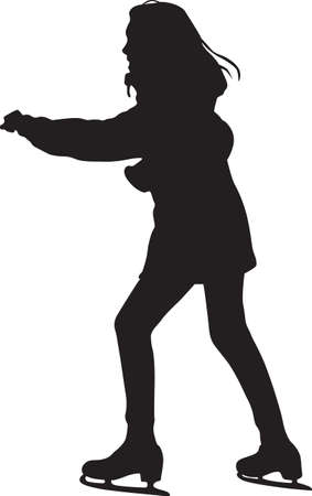 ice skating silhouette vector 矢量图像