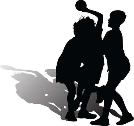 kid play handball