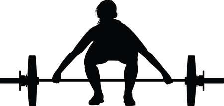 weight lifting girl