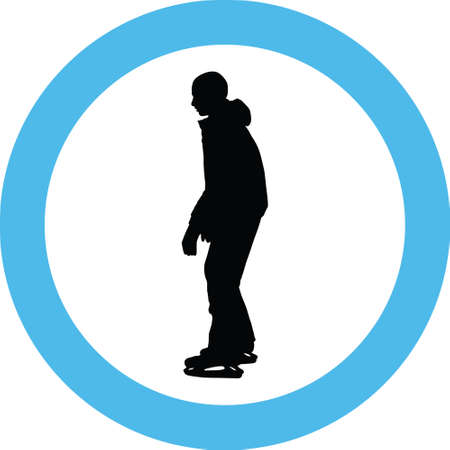 ice skate silhouette 矢量图像