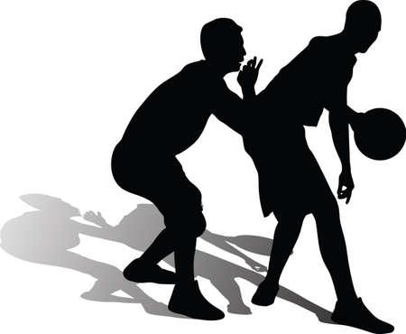 basketball player silhouette 矢量图像