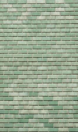 green wall brick texture background 免版税图像