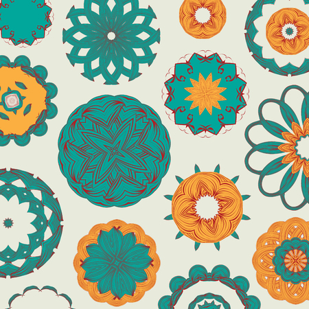 traditional pattern: Round traditional ornament pattern. Vector pattern. Decor