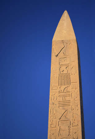 obelisk stone: Top of the ancient stone obelisk in Egypt