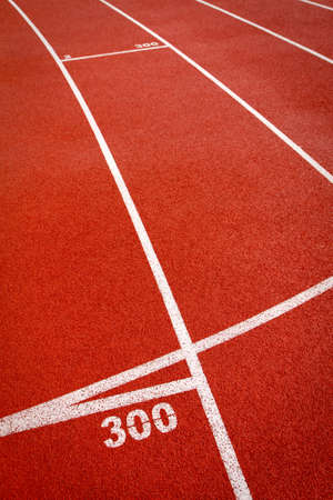 ins: Track lanes ins sports runway, red surface