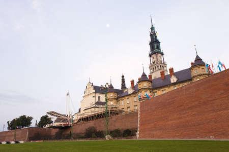 gora: Jasna Gora monastery at dawn, Czestochowa in Poland