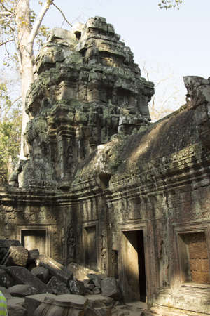 gained: The temple of Ta Prohm. He has gained popularity due to the fact that its territory filmed scenes from film Lara Croft Stock Photo