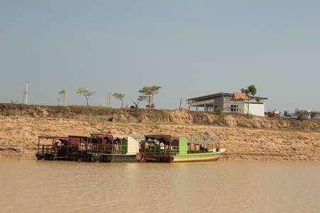 tonle sap: Cambodia Tonle Sap Vietnamese floating village of Phnom Krom. on the Tonle Sap lake