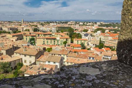 citadel: Carcassonne citadel, fortress, palace Viscount and Trankaveley. Stock Photo