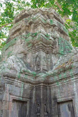 archaeological complex: AThe temple complex of Angkor in Kambodzhe.Arhitektura, monuments, reliefs and ruins.ngkor Archaeological Park