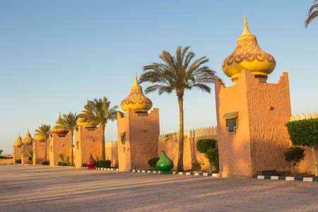 sharm el sheikh: Landscape sketches on the hotel in Sharm el- Sheikh Stock Photo