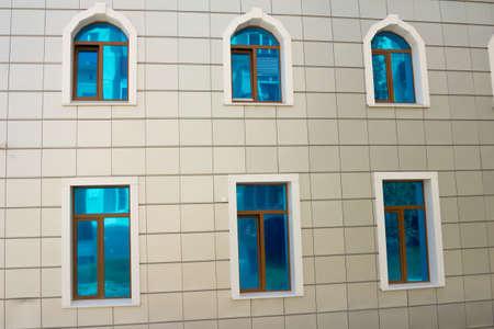 overhaul: A fragment of a modern building field overhaul Stock Photo