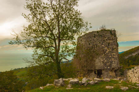 abkhazia: One of the towers of the fortress Cultural Historical Complex Anakopia Fortress Republic of Abkhazia