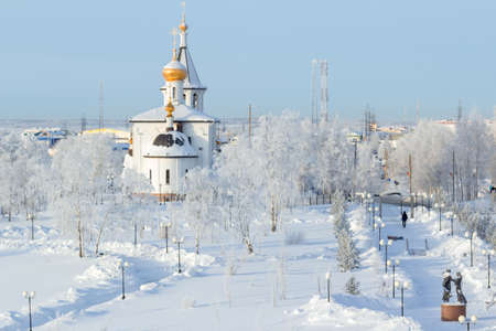frosty morning: A cold frosty morning, the Orthodox Christian churches