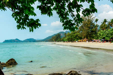 south east asia: Sandy beach on Koh Chang in South East Asia Stock Photo