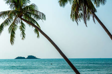 south east: Sandy beach on Koh Chang in South East Asia Stock Photo