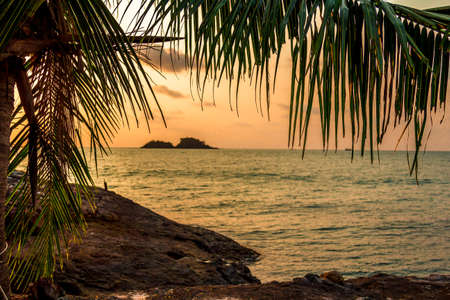 chang: Evening sea landscape on the shores of Koh Chang Island