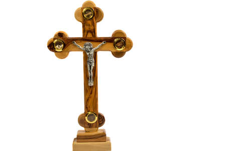 holy land: Cross from the Holy Land on a white background