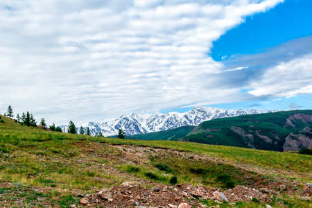 altai: Mountain landscape in early summer in the Altai
