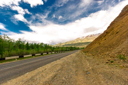 altai mountains: Republic of Altai Mountains paved road called Chuiski stretches to the Mongolian border