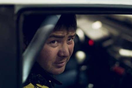 Car master performs urgent order for car repair Stock Photo